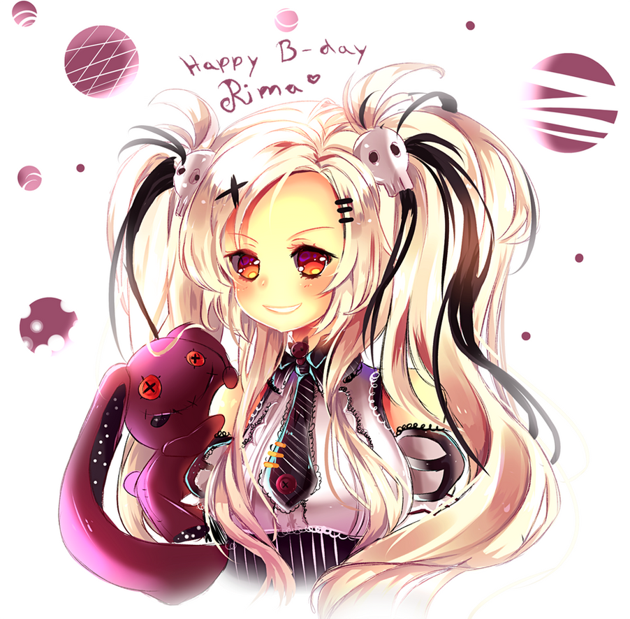 Happy Birthday RimaPichi + Speedpaint by Maruuki