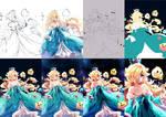 Rosalina and Luma progress[Step by Step]