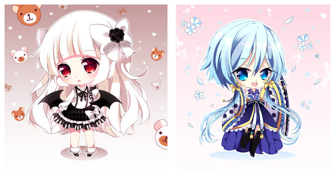 YCH batch [Little Vampire and Blue Sakura]