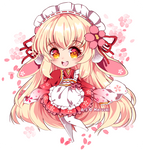 Sakura Bunny [+ Speedpaint]