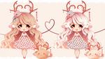 Valentine Love Deer Closed by Maruuki