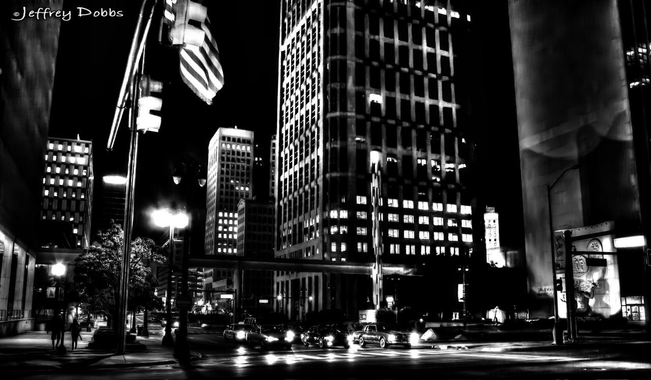 A night downtown. by JeffreyDobbs