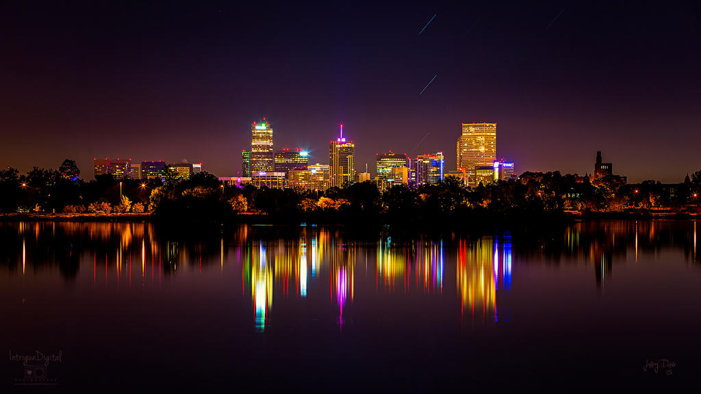 Stars over the City - Downtown Denver by JeffreyDobbs