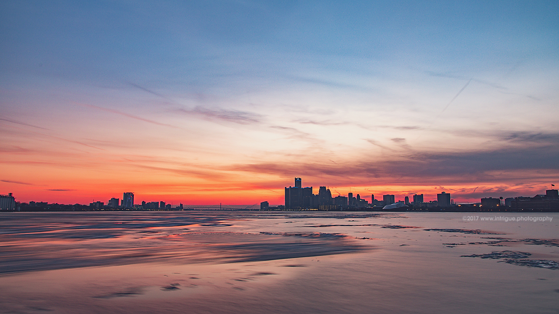Belle Isle Detroit Sunset - Finally