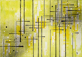 Abstract acrylic painting on canvas by InkingArt