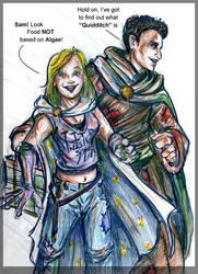 Kara and Sam at a Convention by BSG-Comics