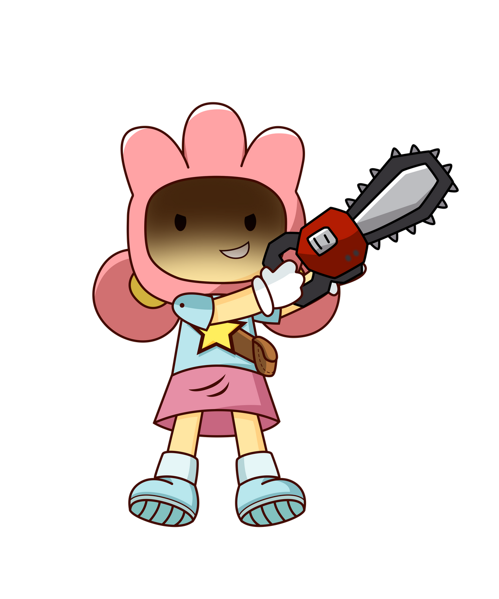 Other Character] Lily with a chainsaw by RapBattleEditor0510