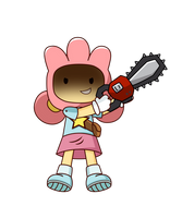 [Other Character] Lily with a chainsaw by RapBattleEditor0510
