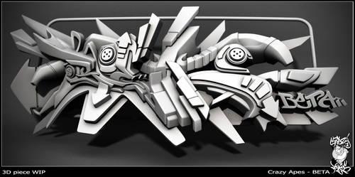 3d graffti by BeTaOnEr