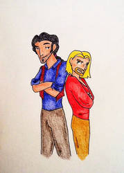 Miguel and Tulio by Astridhofferman