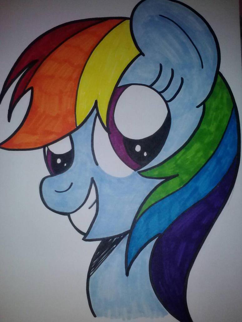 Rainbow Dash Headshot by sorasarah212
