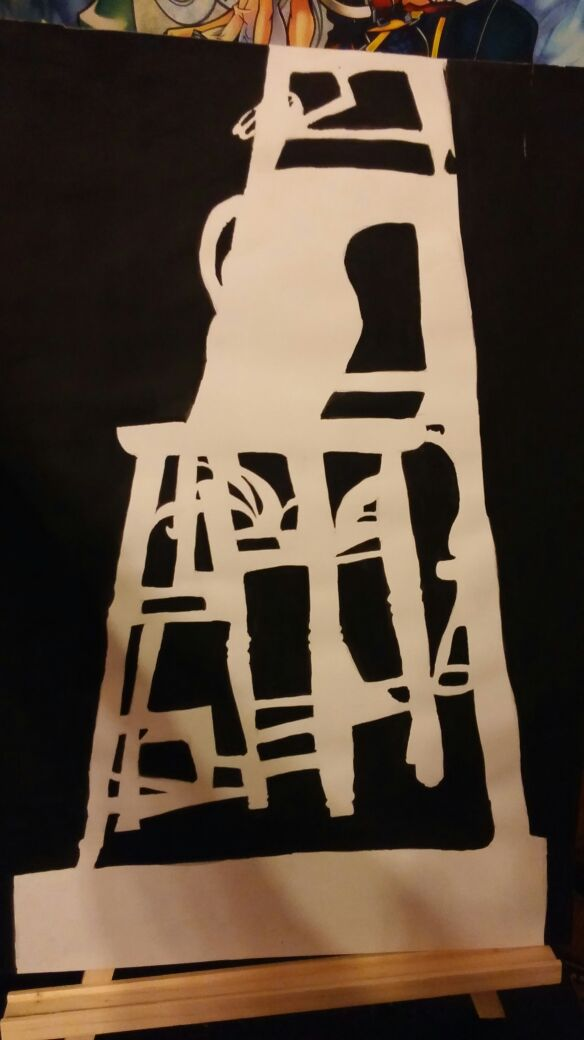 Drawing 1 Negative Space Ink Drawing by sorasarah212