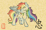 Sumi-e Rainbow Dash COMMISSION