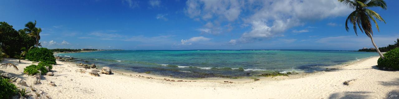 Akumal Sur Beach Panorama by cbspicer