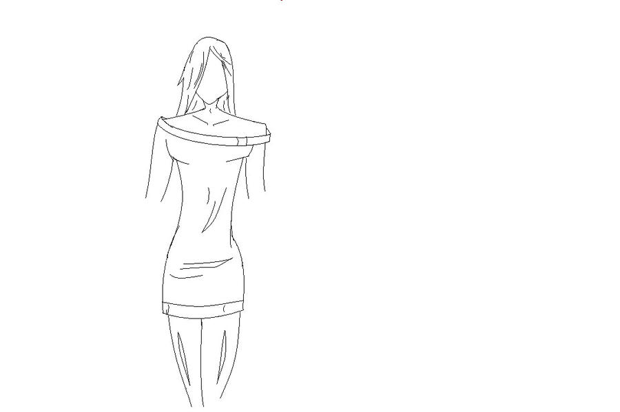 pictures of how to draw anime girl body outline