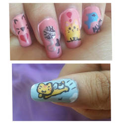Life of an Anime Cat Nailart by DyeritsoJazzy