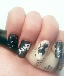 Stray Cat Nailart by DyeritsoJazzy