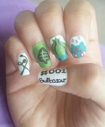 No. 001 Bulbasaur Nail Art
