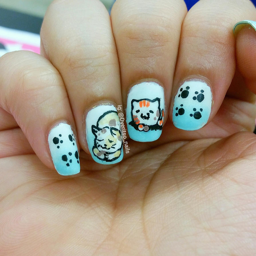 Kawaii Kitties Nail Art by DyeritsoJazzy on DeviantArt