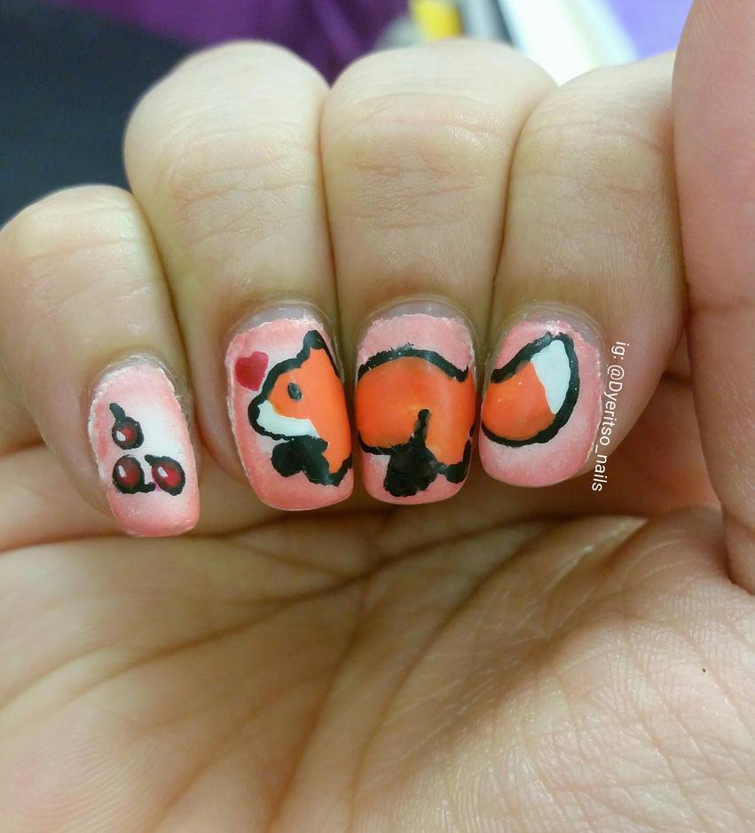 Fox n\' Berries Nail Art by DyeritsoJazzy on DeviantArt
