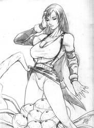 Pencil: Tifa lockhart by pantypeeper
