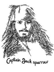 Jack sparrow typography by XSUN-N