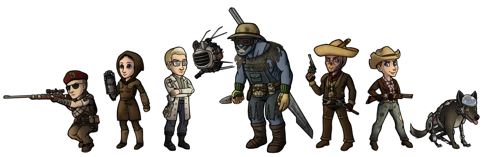 Fallout: New Vegas Companions by Doomed-Dreamer
