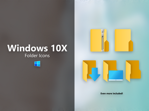 Windows Icons // Unofficial 10X Folder Icons