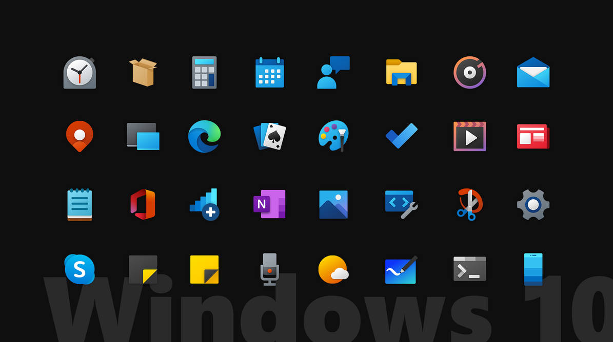 Iconic Icons // Official 2020 Windows 10(X) Icons