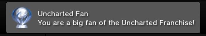 Custom PSN Trophy: Uncharted Fan by Champion-Gamer49