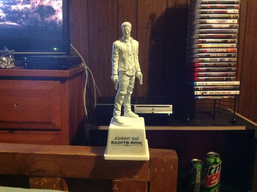 Johnny Gat Statue Saints Row Iv By Champion Gamer49 On Deviantart
