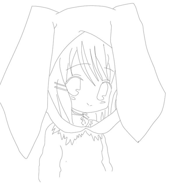 anime bunny coloring pages - photo#26