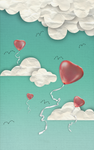 Paper Clouds and Balloons