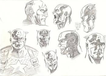 Captain America Head Sketch by aliduzgun