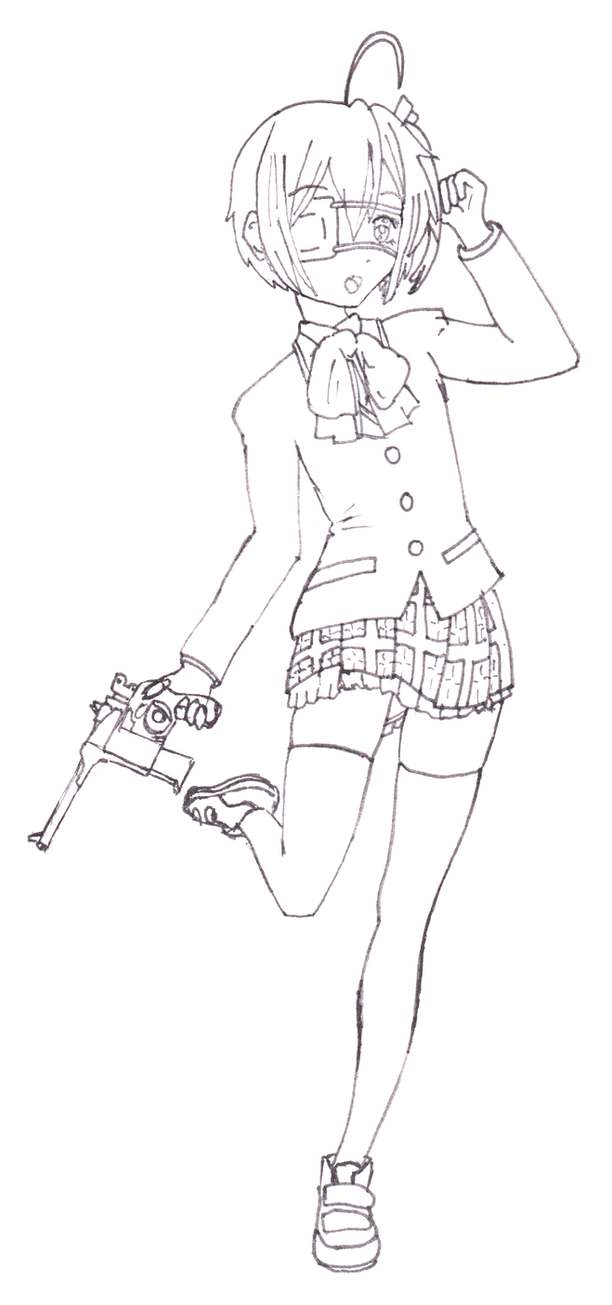 Sketch - Rikka Takanashi Pose Practice by return-null