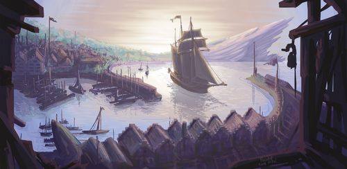 PKMN-Frontier - the Settlement of South Port by Aquaria-Moon