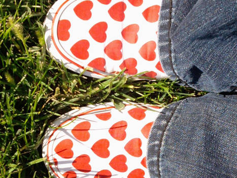I wear my heart on my feet
