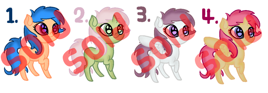 [CLOSED] Pony Adoptables #2 by strawbellycake