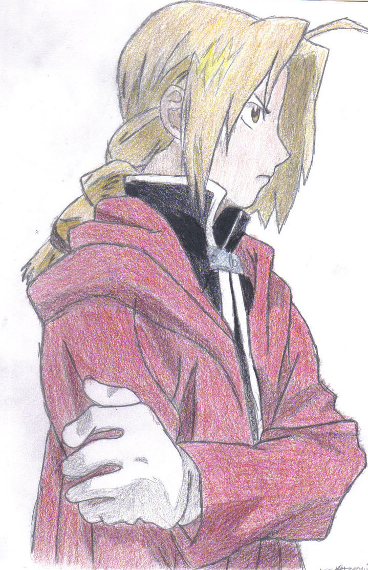 Edward Elric colored pencil by Shadow-Wing456