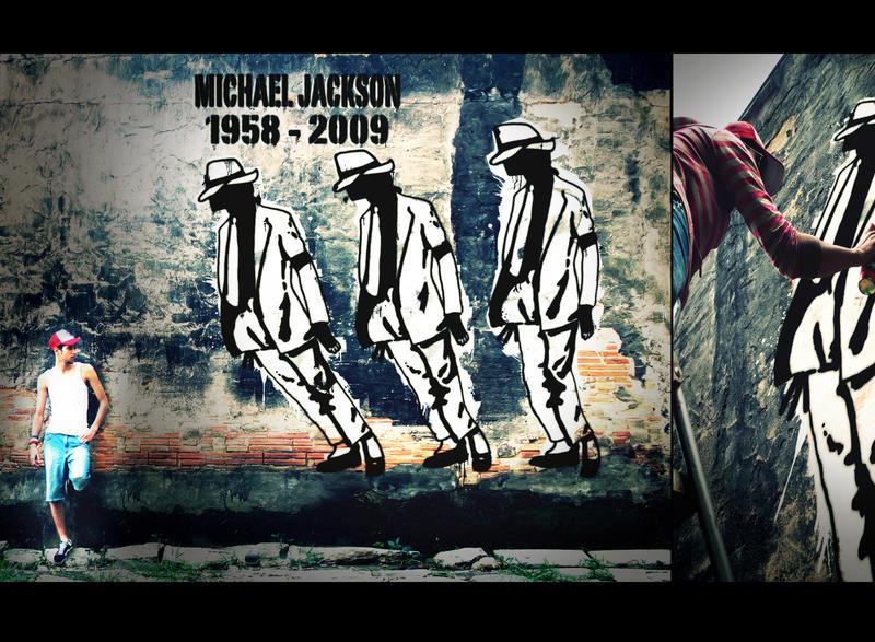 Michael Jackson Graffiti by byCavalera