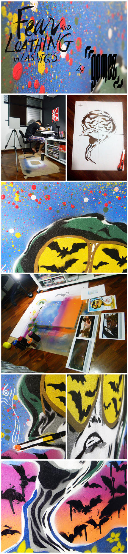 Fear and Loathing in Las Vegas Canvas - Process by byCavalera