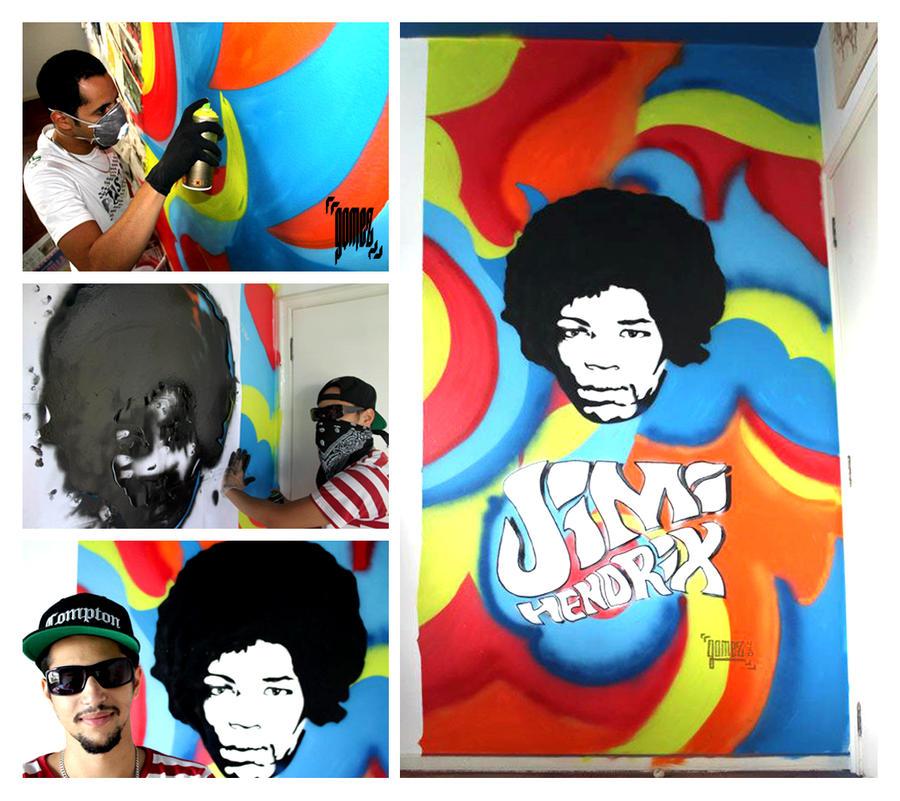 Jimi Hendrix tribute Wall by byCavalera