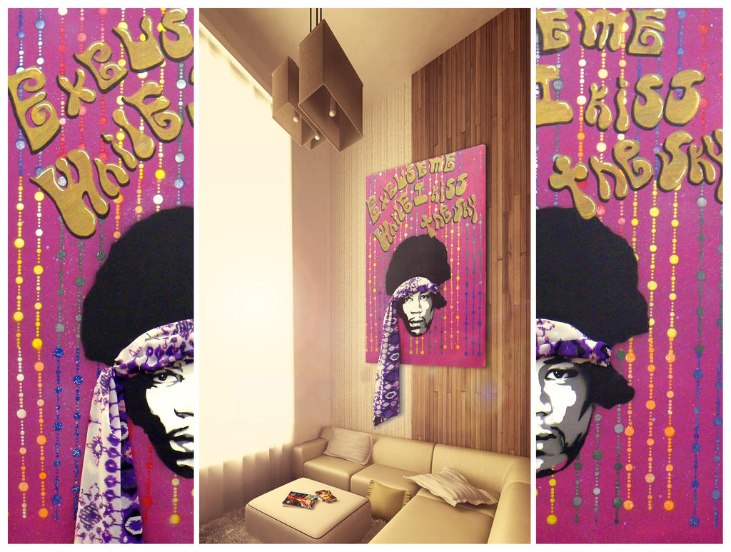 Purple Haze - Stencil on Canvas by byCavalera