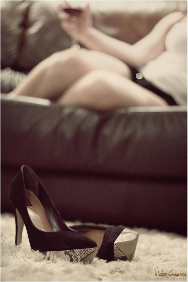 High heels and wine by byCavalera
