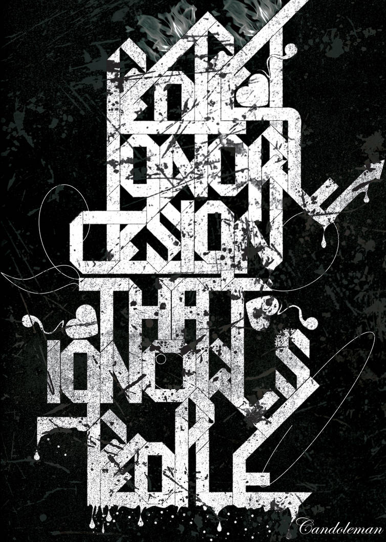People Ignore Design... by Candoleman