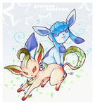 Pkmn - Glaceon and Leafeon