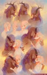 Kisses by MoltenGoldArt