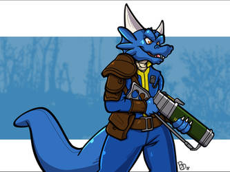 Fallout Blue by The-BlueDragoon