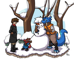 Snow hooman by The-BlueDragoon