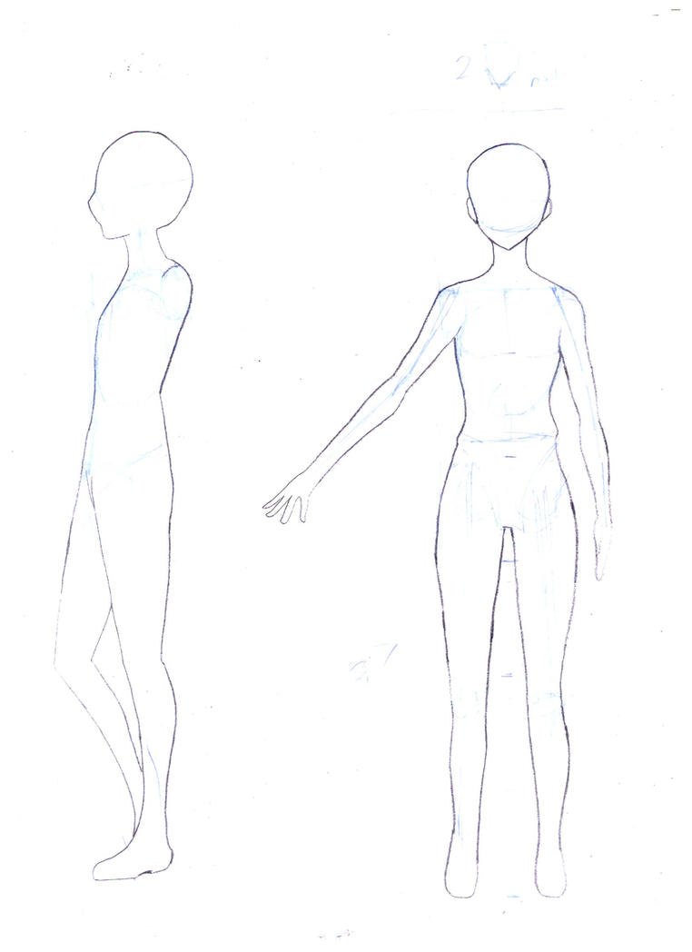 Chibi Body Outline Female Lektonfo